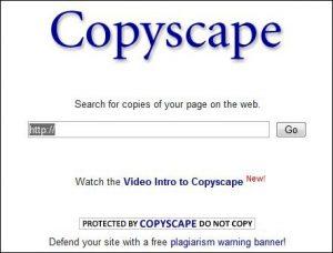 copyscape homescreen preview