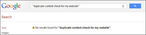google duplicate content check