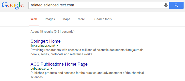 related search query google