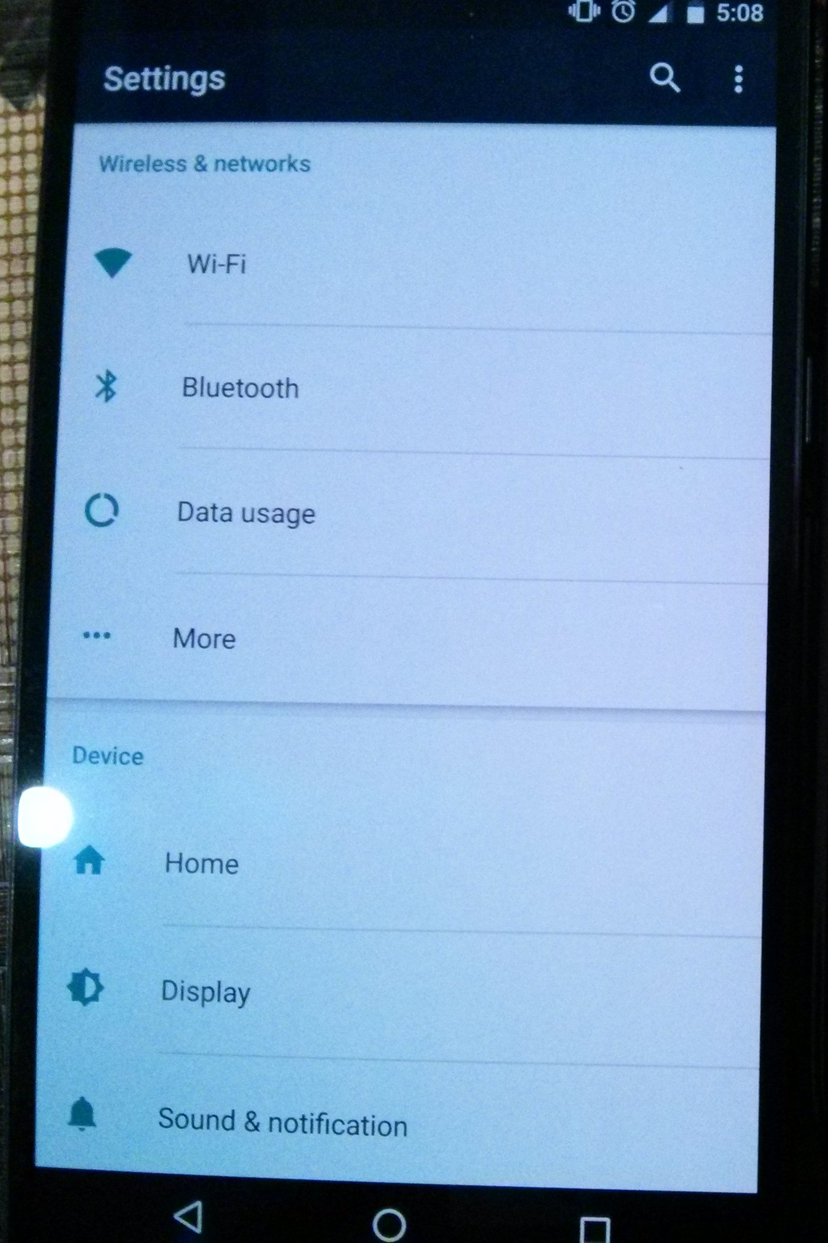 nexus 6p screen after activating screenbalance