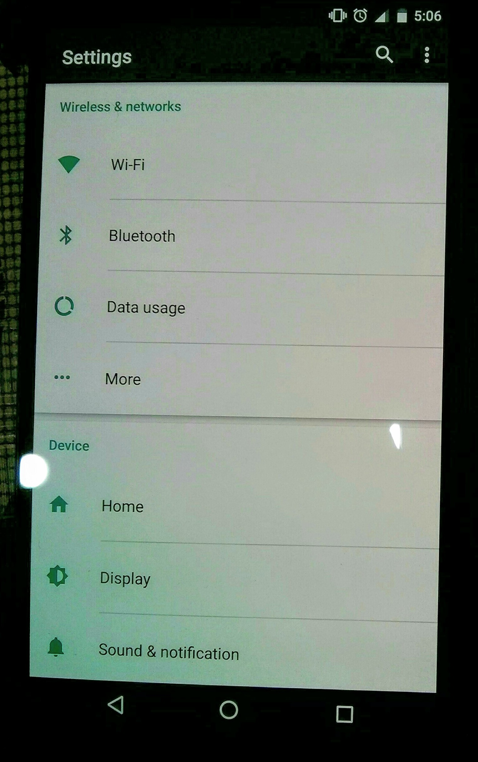 nexus 6p screen before activating screenbalance