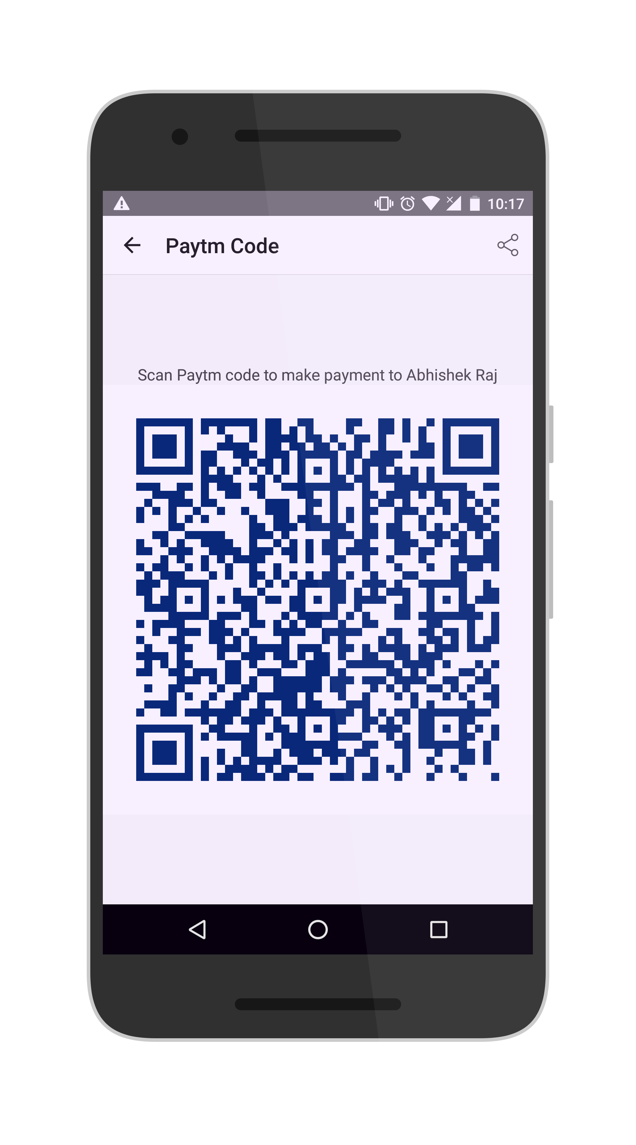 QR code in mobile payments